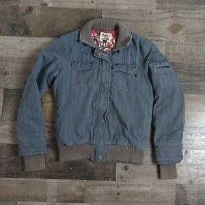 Vintage Volcom Grey Blue Collared Coat
